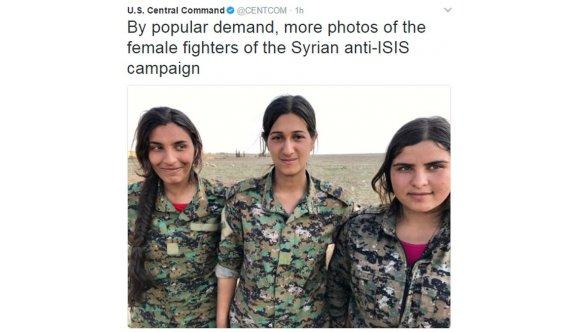 ABD ordusundan skandal YPG tweetleri!