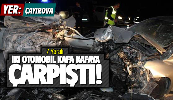 Çayırova'da feci kaza!