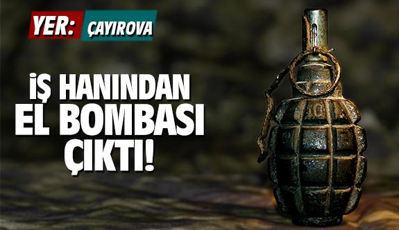 Çayırova'da İş hanından el bombası çıktı