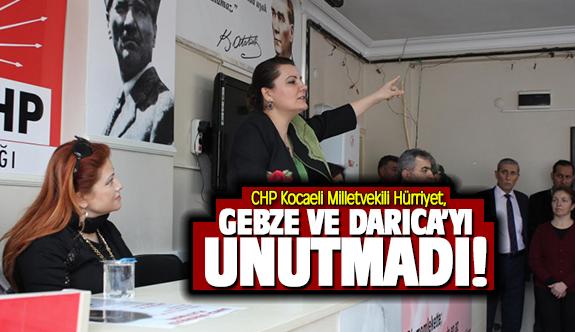 CHP Milletvekili Hürriyet, Gebze ve Darıca'yı unutmadı