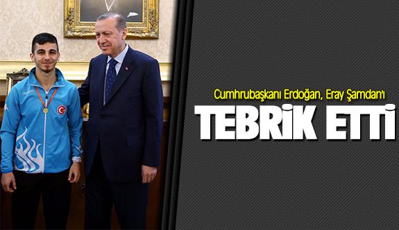 Cumhrubaşkanı Erdoğan Şamdan'ı tebrik etti!