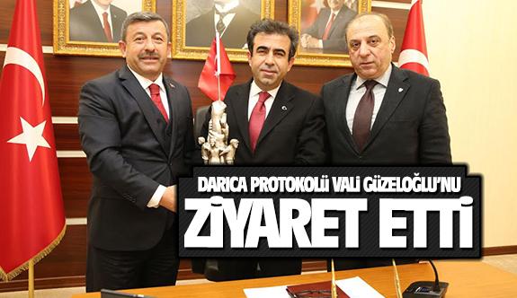 Darıca Protokolünden Vali Güzeloğlu'na ziyaret