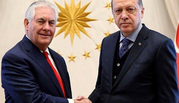 Erdoğan Tillerson'la görüştü! Gündem FETÖ!