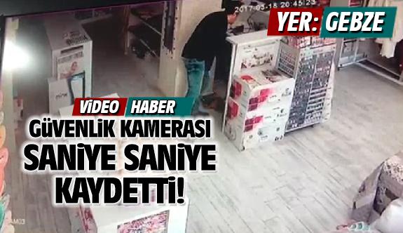 Gebze'deki hırsızlık kameralara saniye saniye yansıdı!