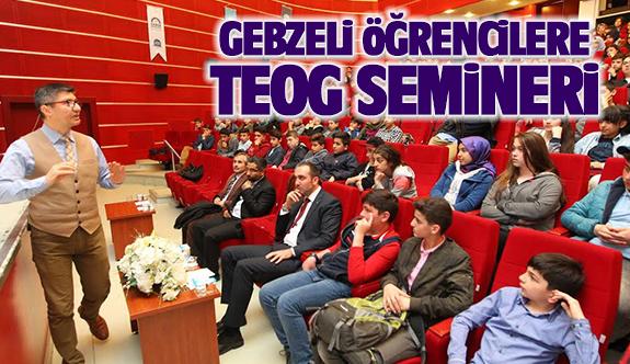 Gebzeli Öğrencilere bilgilendirme semineri