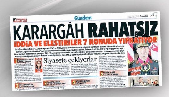 Hürriyet'ten tartışılan manşet hakkında açıklama