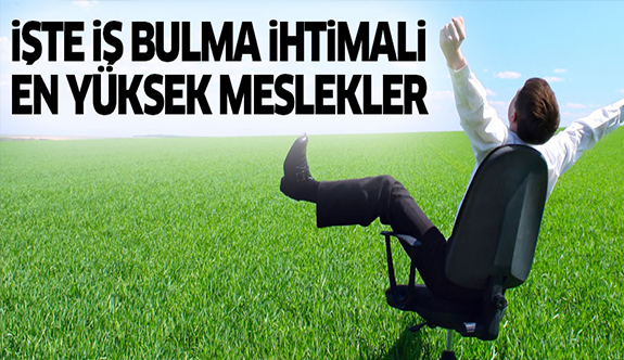İş bulma ihtimali en yüksek meslekler