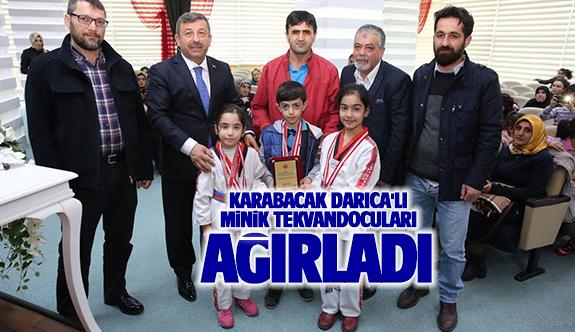 Karabacak minik Tekvandocuları konuk etti