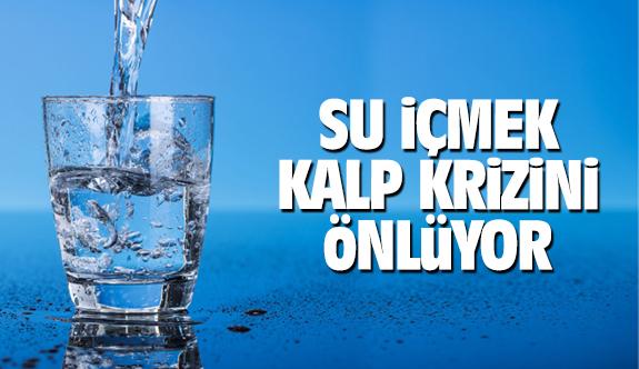 Su içmek kalp krizini önlüyor