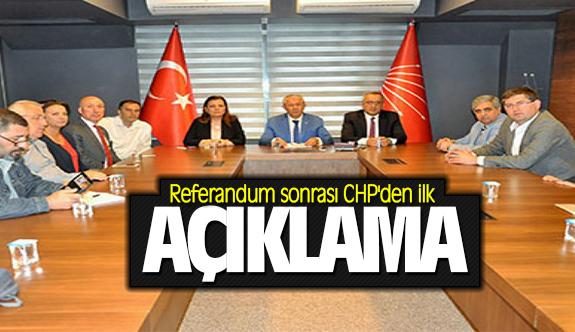 Referandum sonrası CHP'den ilk açıklama