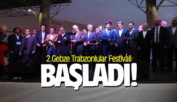 2. Gebze Trabzonlular Festivali başladı