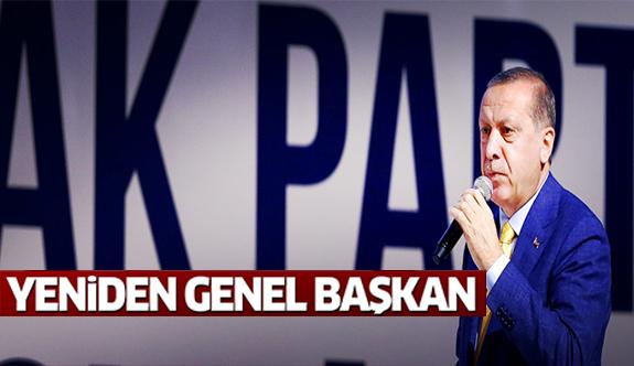 Erdoğan yeniden genel başkan!