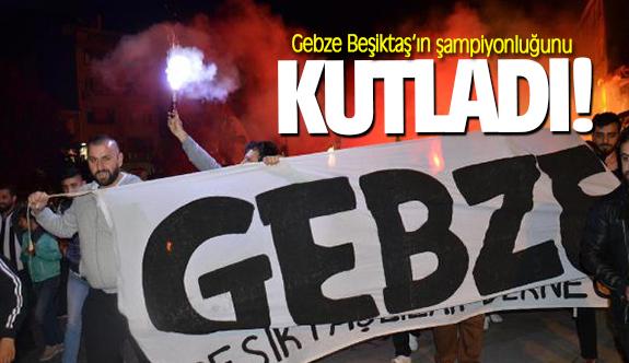 Gebze Beşiktaş'ın şampiyonluğunu kutladı