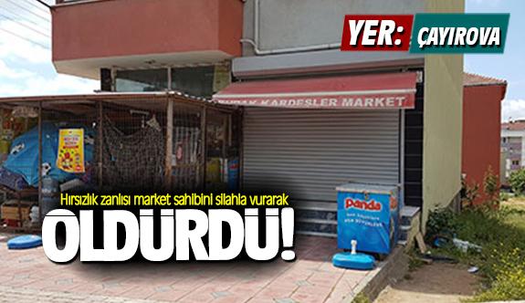 Hırsızlık zanlısı market sahibini silahla vurarak öldürdü!