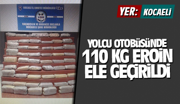 Kocaeli'de uyuşturucu operasyonu! 110 kilo uyuşturucu ele geçirildi