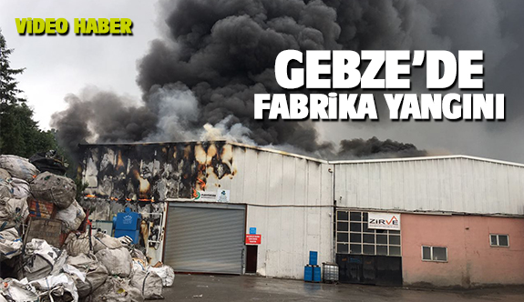 Pelitli Köyü'nde fabrika yangını!