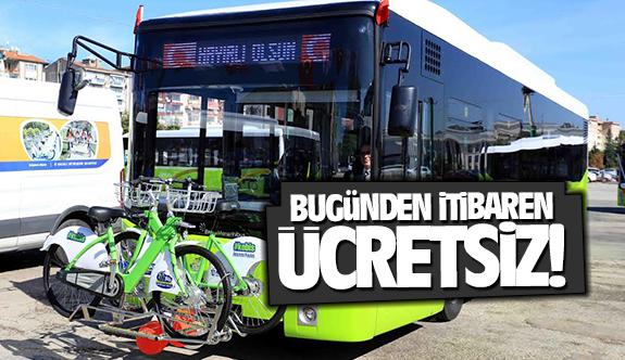 Büyükşehir otobüleri bayram boyunca ücretsiz!