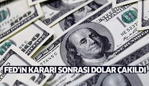 FED'in kararı sonrası dolar çakıldı