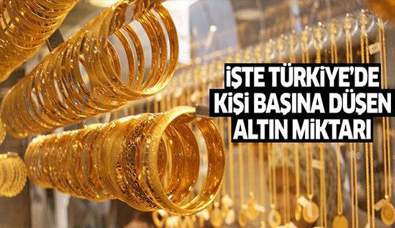 İşte Türkiye'de kişi başına düşen altın miktarı