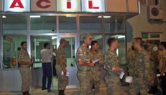 Kastamonu'da 38 asker hastanelere kaldırıldı