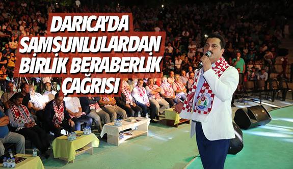 Darıca'da Samsunlulardan birlik beraberlik çağrısı
