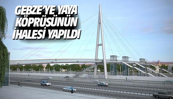 Gebze'ye yaya köprüsünün ihalesi yapıldı