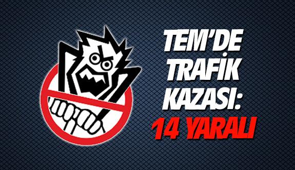 TEM'de trafik kazası: 14 yaralı