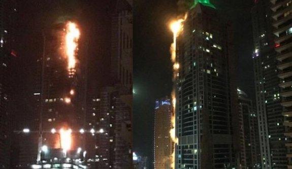 86 katlı gökdelende yangın çıktı