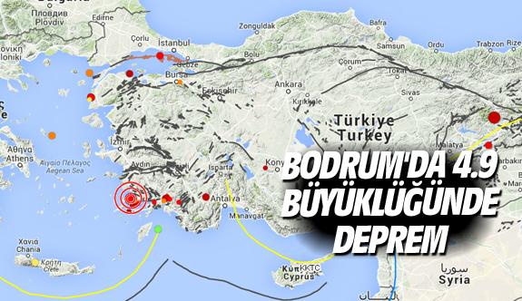 Bodrum'da 4.9 büyüklüğünde deprem