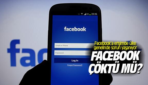 Facebook çöktü mü?