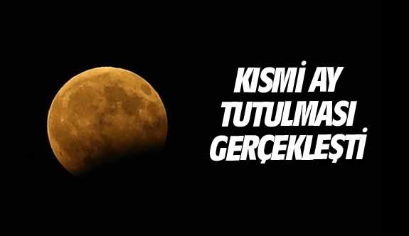 Kısmi Ay tutulması gerçekleşti