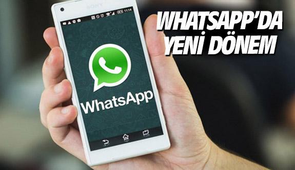 Whatsapp'da yeni dönem
