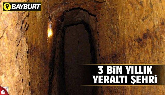 Bayrbut'ta 3 bin yıllık yeraltı şehri
