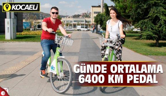 Kocaeli'de günde 5 bin 400 km pedal çevriliyor!
