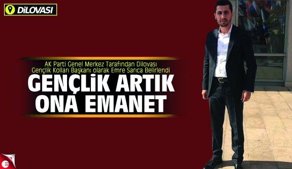 Emre Sarıca AK Genç Dilovası'nda aday oldu