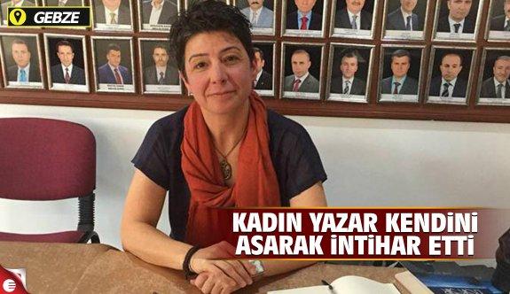 Gebze'de kadın yazar intihar etti
