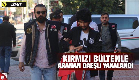 Kırmızı bültenle aranan DEAŞ'lı İzmit'te yakalandı