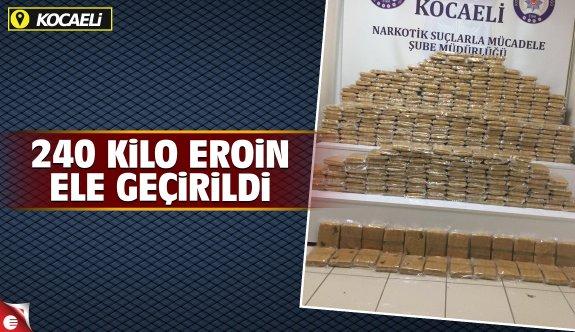 Kocaeli'de 240 kilo eroin ele geçirildi
