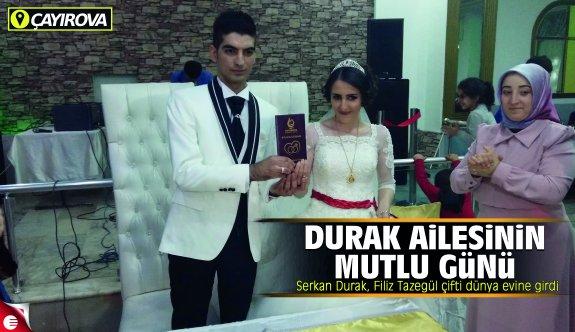 Serkan Durak, Filiz Tazegül çifti dünya evine girdi