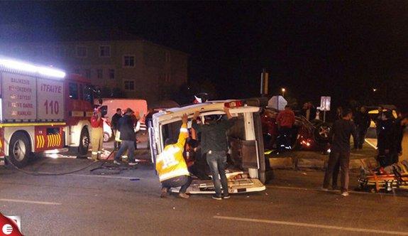 Aynı gece 2 ambulans kazası