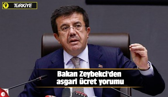 Bakan Zeybekci'den asgari ücret yorumu
