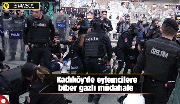 Kadıköy'de eylemcilere biber gazlı müdahale