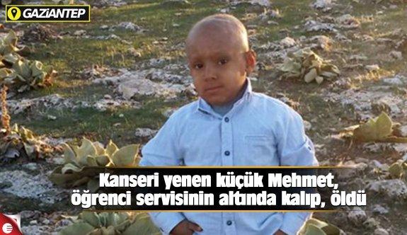 Kanseri yenen küçük Mehmet, öğrenci servisinin altında kalıp, öldü