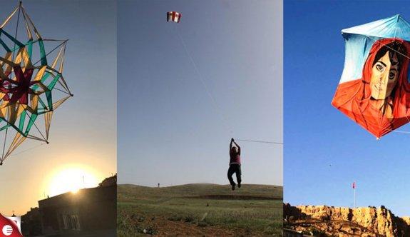 Mardinli Zahit uçurtmayı sanata dönüştürüyor