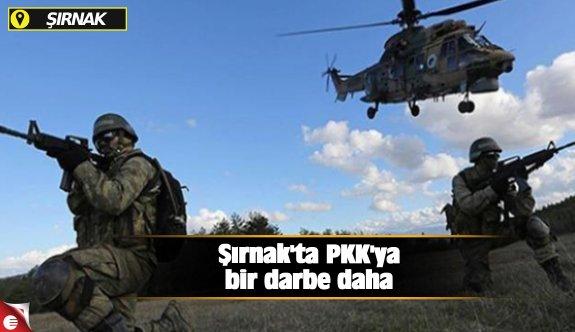 Şırnak'ta PKK'ya bir darbe daha