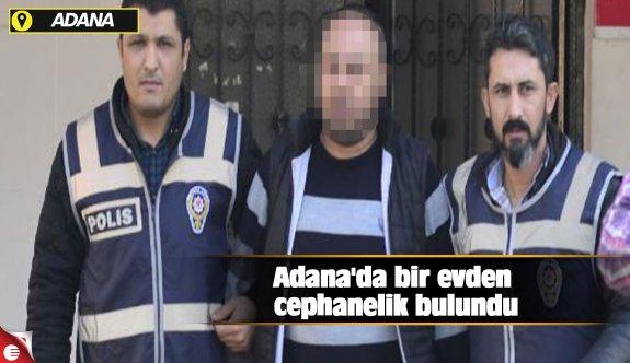 Adana'da bir evden cephanelik bulundu