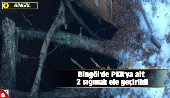Bingöl'de PKK'ya ait 2 sığınak ele geçirildi