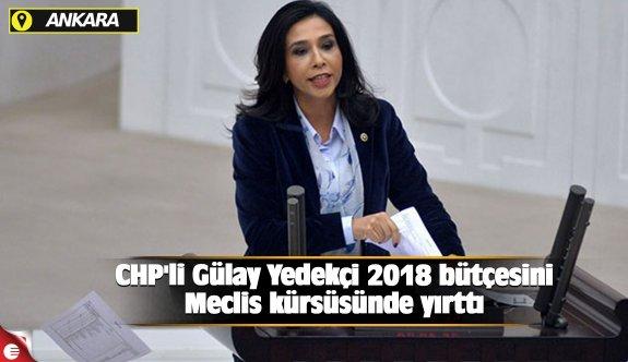 CHP'li Gülay Yedekçi 2018 bütçesini Meclis kürsüsünde yırttı