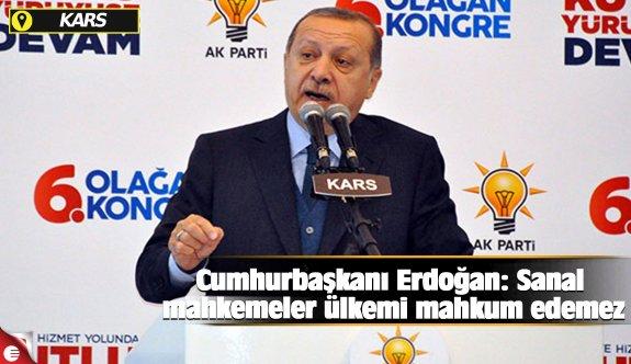 Cumhurbaşkanı Erdoğan: Sanal mahkemeler ülkemi mahkum edemez