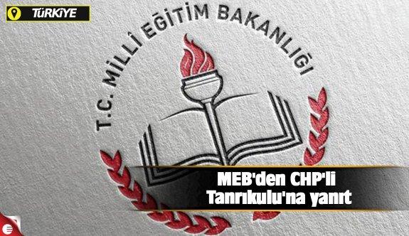 MEB'den CHP'li Tanrıkulu'na yanıt